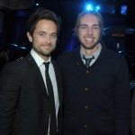 Actors Justin Chatwin (L) and Dax Sherpard