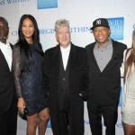 (L-R) Actor Djimon Hounsou, Kimora Lee Simmons director/musician David Lynch, Russell Simmons and Angela Simmons