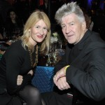 Actress Laura Dern (L) and Director musician David Lynch