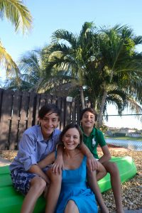 Lina Trujillo with her sons Lucas (left) and Matias (right)