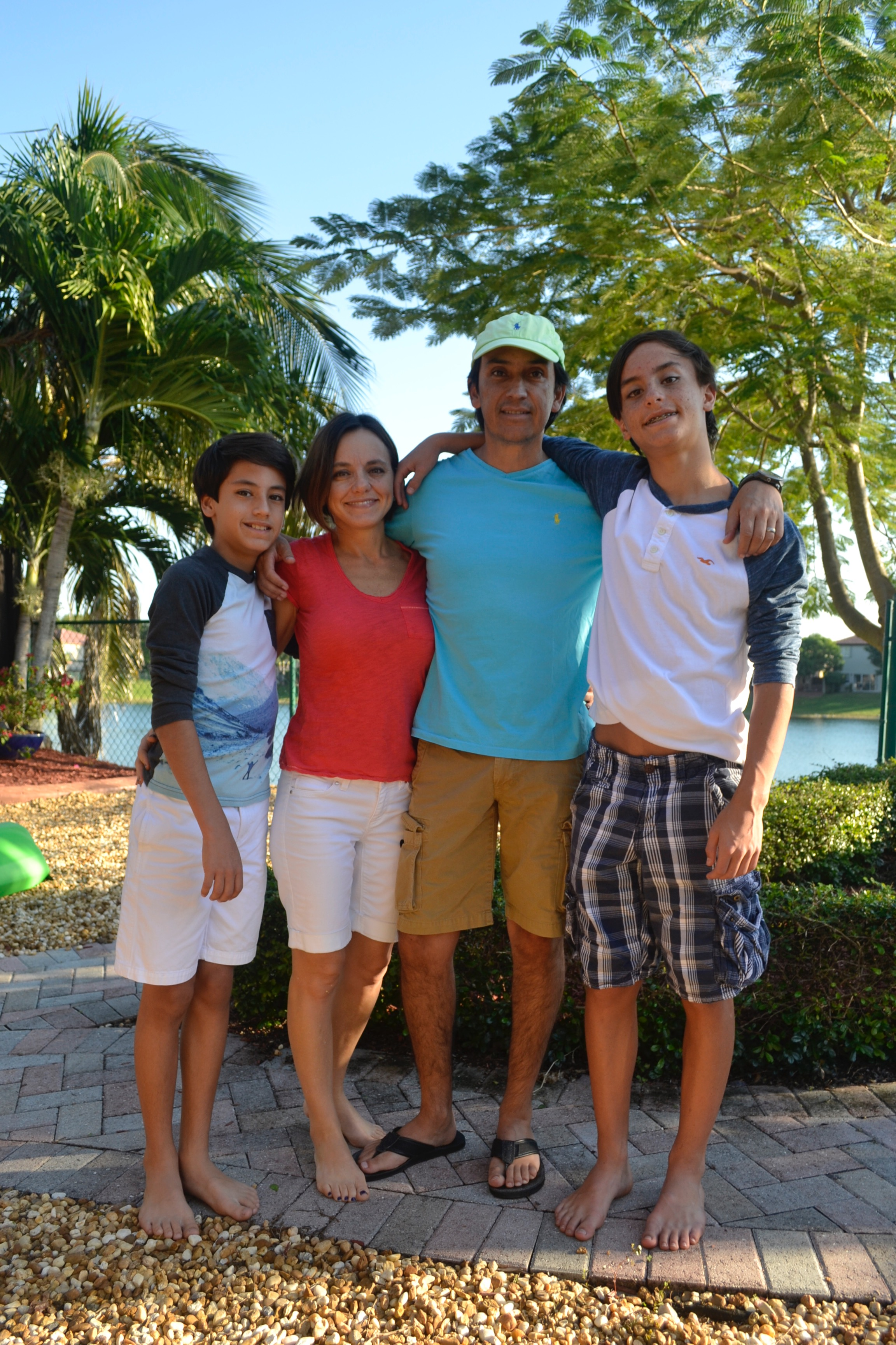 The Trujillo family–Matias, Lina, Luis, and Lucas (left to right)