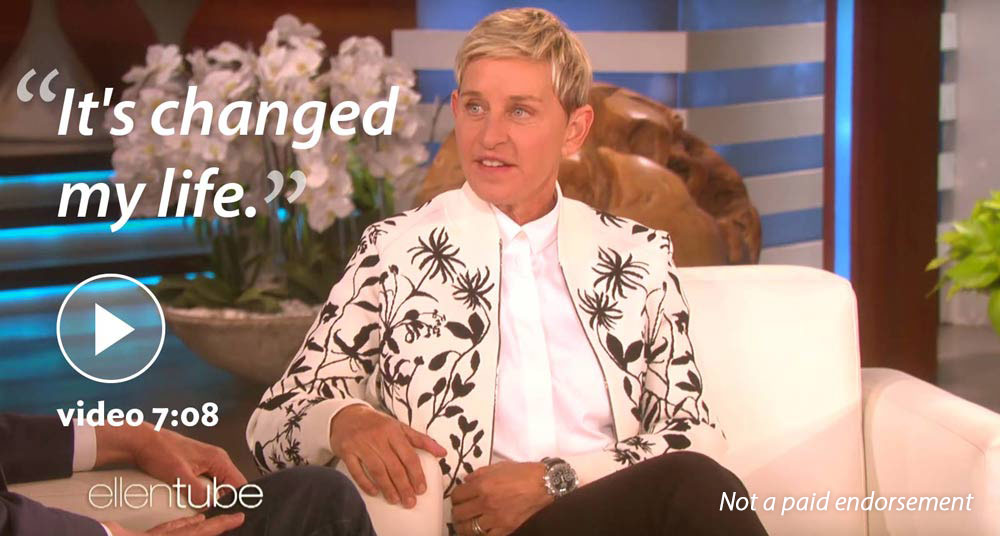 Ellen Degeneres on TM: 'It's changed my life'