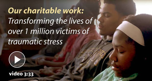 Transforming the lives of over 1 million victims of traumatic stress