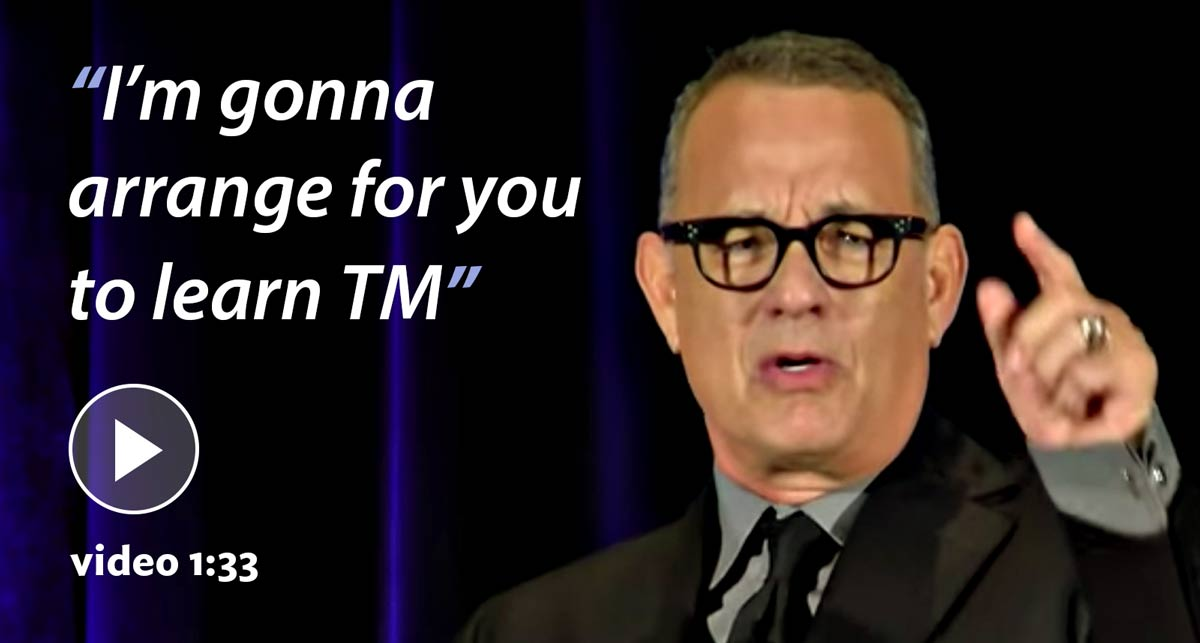Tom Hanks on TM'